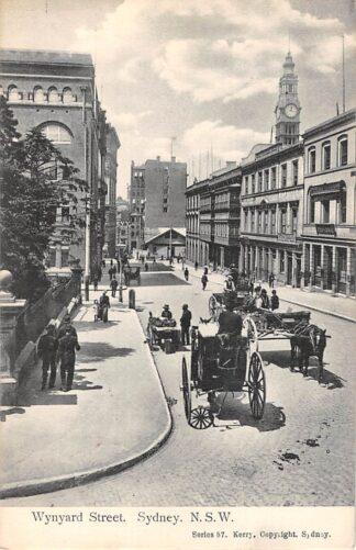 Ansichtkaart Australië Sidney N.S.W. Wynyard Street 1911 Australia HC21465