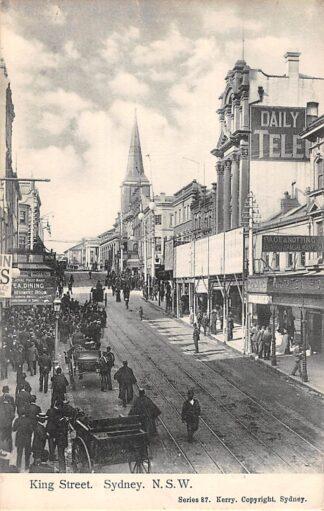 Ansichtkaart Australië Sydney N.S.W. King Street 1911 Australia HC21466