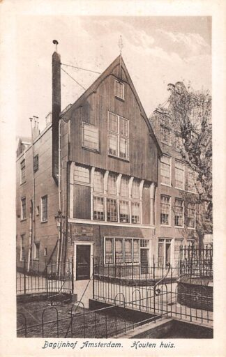 Ansichtkaart Amsterdam Bagijnhof Houten Huis HC21471
