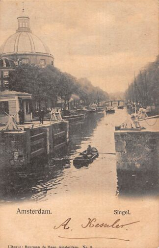 Ansichtkaart Amsterdam Singel Sluis 1902 HC21476