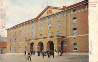 Ansichtkaart Arnhem Willems kazerne met soldaten 1904 Militair HC21497
