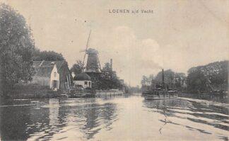 Ansichtkaart Loenen (UT) a/d Vecht Molen en binnenvaart schepen Scheepvaart 1910 HC21532