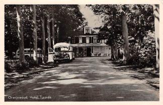 Ansichtkaart Oranjewoud Hotel Tjaarda met auto bus Heerenveen HC21542