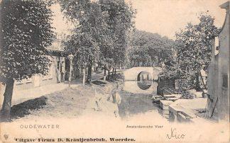 Ansichtkaart Oudewater Amsterdamsche Veer 1906 HC21543