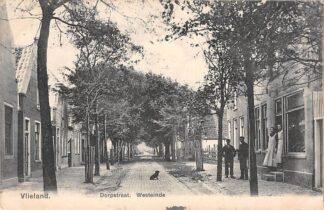 Ansichtkaart Vlieland Dorpstraat Westeinde 1909 HC21555