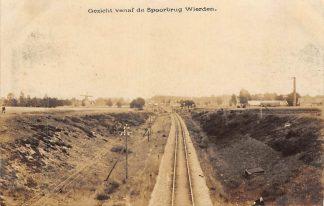 Ansichtkaart Wierden Gezicht vanaf de Spoorbrug Fotokaart Bij Almelo Twente Spoorwegen HC21560