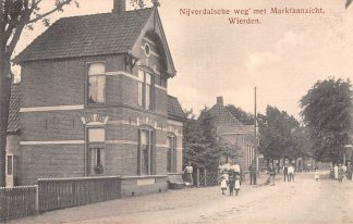 Ansichtkaart Wierden Nijverdalsche weg met Marktaanzicht Bij Almelo Twente HC21562