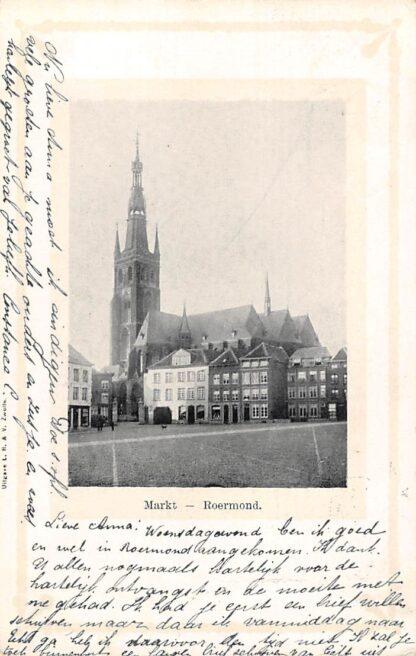 Ansichtkaart Roermond De Markt 1901 HC21566