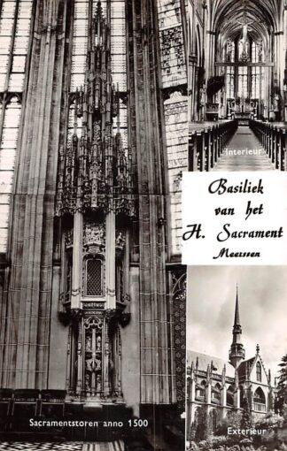 Ansichtkaart Meerssen Basiliek van het H. Sacrament Sacramentstoren Interieur en Exterieur Kerk HC21574