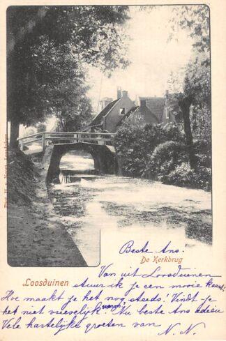 Ansichtkaart Loosduinen De Kerkbrug 's-Gravenhage HC21578