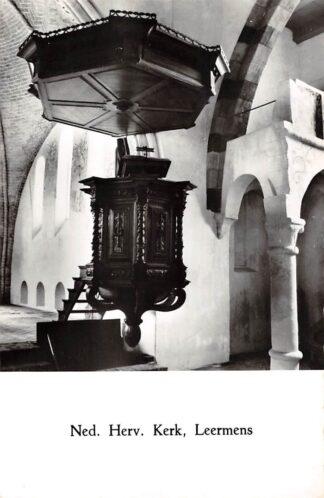 Ansichtkaart Leermens Ned. Hervormde Kerk Interieur Loppersum 1965 HC21582