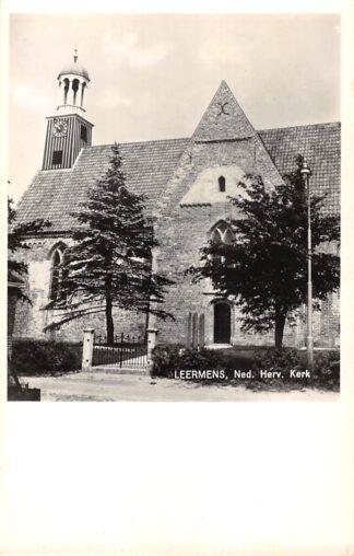 Ansichtkaart Leermens Ned. Hervormde Kerk Loppersum HC21583