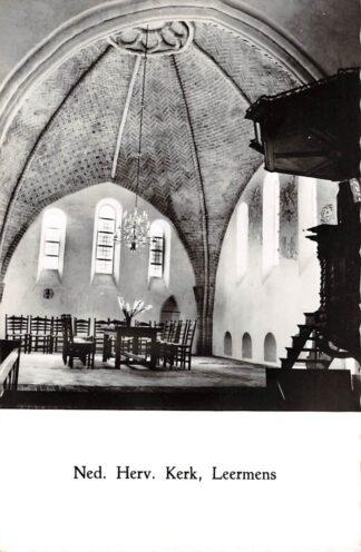 Ansichtkaart Leermens Ned. Hervormde Kerk Interieur Loppersum HC21584