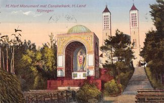 Ansichtkaart Heilig Landstichting H. Hart Monument met Cenakelkerk Nijmegen 1928 HC21607