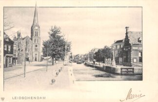 Ansichtkaart Leidschendam Bij de sluis 1902 HC21621