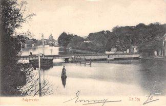Ansichtkaart Leiden Galgewater met Spoorbrug 1906 Spoorwegen HC21623