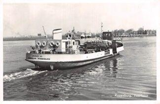 Ansichtkaart Rotterdam Rozenburg Veerboot No. 1 naar Maassluis 1960 Binnenvaart schepen Veer HC21633