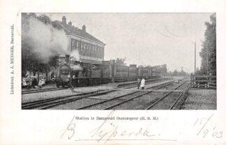 Ansichtkaart Barneveld Station Oosterspoor H.S.M. met Stoomtrein 1903 Spoorwegen Treinen Veluwe HC21642