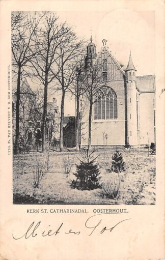 Ansichtkaart Oosterhout (NB) Kerk St. Catharinadal 1908 HC21651