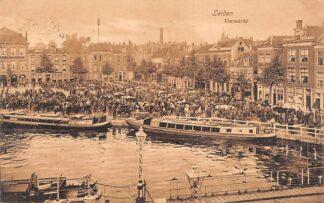 Ansichtkaart Leiden Veemarkt 1912 Markt Schepen HC21673