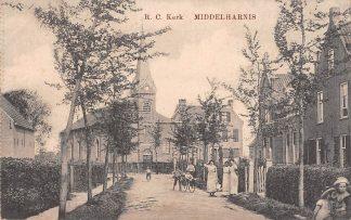 Ansichtkaart Middelharnis R.C. Kerk 1916 HC21680