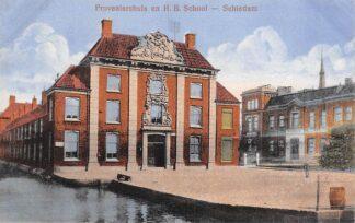 Ansichtkaart Schiedam Proveniershuis en H.B. School HC21692
