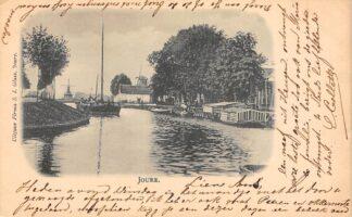 Ansichtkaart Joure 1899 Molens Binnenvaart schepen Scheepvaart HC21719