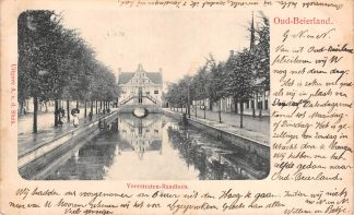 Ansichtkaart Oud Beijerland Voorstraten - Raadhuis 1905 Hoeksche Waard HC21720