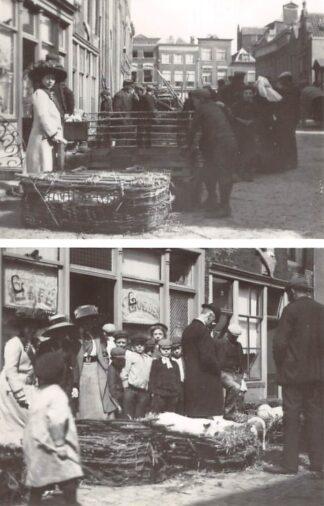 Ansichtkaart Zo was Dordrecht Varkenmarkt 1911 HC21792