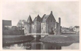Ansichtkaart Medemblik Kasteel Radboud 1941 HC21808