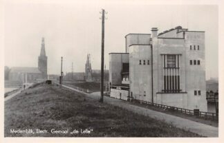 Ansichtkaart Medemblik Electr. Gemaal de Lelie Fotokaart 1942 HC21810
