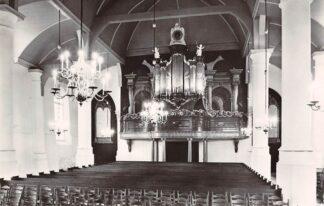 Ansichtkaart Bodegraven N.H. Dorps kerk Interieur met orgel 1971 HC21828