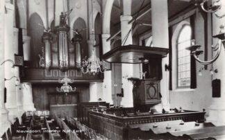 Ansichtkaart Nieuwpoort (ZH) Interieur N.H. Kerk met orgel 1969 HC21838