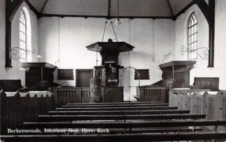 Ansichtkaart Berkenwoude Interieur Ned. Hervormde Kerk Krimpenerwaard HC21841