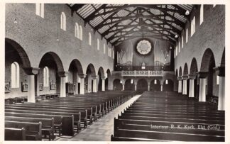 Ansichtkaart Elst (GD) Interieur R.K. Kerk met orgel 1956 HC21844
