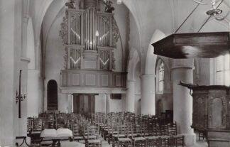 Ansichtkaart Westervoort N.H. Kerk met orgel 1965 HC21845