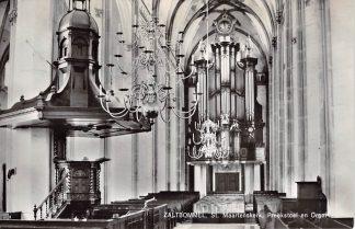 Ansichtkaart Zaltbommel St. Maartenskerk Preekstoel en Orgel 1966 HC21846