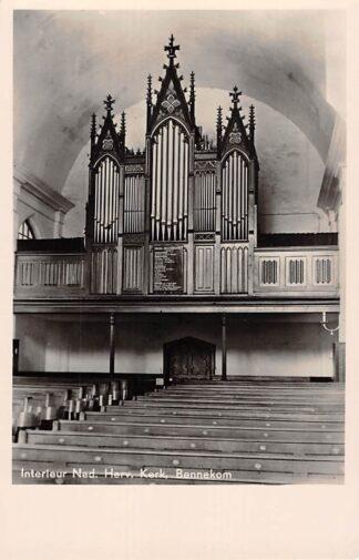 Ansichtkaart Bennekom Interieur Ned. Hervormde Kerk Orgel 1949 HC21852