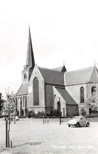 Ansichtkaart Benschop Ned. Hervormde kerk met auto VW 1971 HC21866