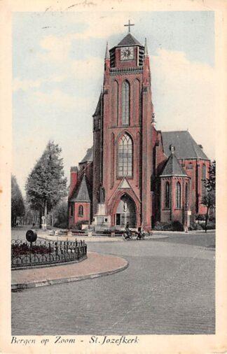 Ansichtkaart Bergen op Zoom St. Jozef kerk 1953 HC21876