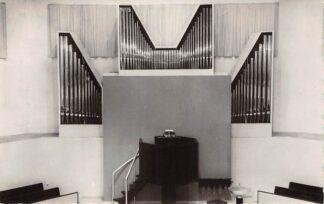 Ansichtkaart Rotterdam Overschie Maranatha kerk Dispositie Orgel HC21888