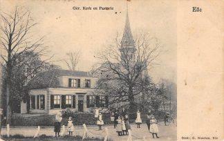 Ansichtkaart Ede Gereformeerde Kerk en Pastorie 1906 HC21903