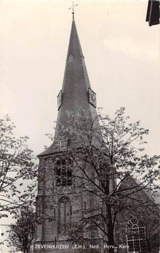 Ansichtkaart Zevenhuizen (ZH) Ned. Hervormde Kerk 1972 HC21912