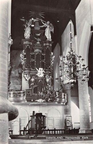 Ansichtkaart Dirksland Hervormde Kerk Orgel Dispositie 1972 HC21920