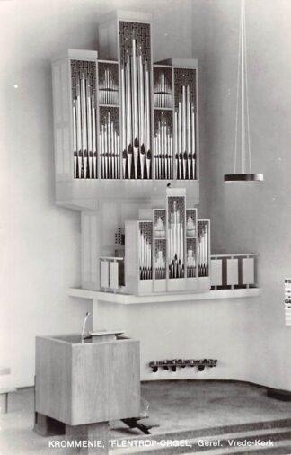 Ansichtkaart Krommenie Gereformeerde Vrede - Kerk Orgel Dispositie 1973 HC21924