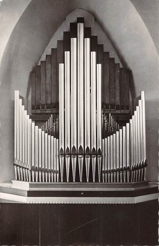 Ansichtkaart Bergen (NH) Gereformeerde Kerk Orgel Dispositie HC21936
