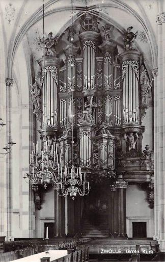 Ansichtkaart Zwolle Ned. Hervormde Grote of St. Michaels kerk Orgel Dispositie HC21962