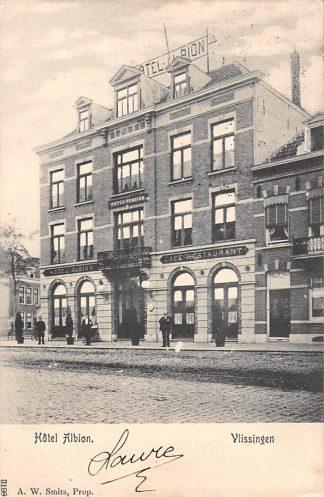 Ansichtkaart Vlissingen Albion Hotel Pension Café Restaurant 1904 HC21965