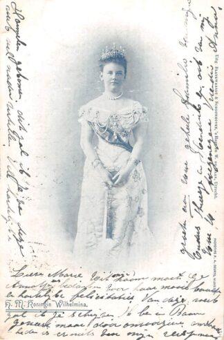 Ansichtkaart 's-Gravenhage Koningin Wilhelmina 1901 Koningshuis HC21978