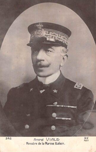 Ansichtkaart Italië WO1 1914-1918 Amiral Viale Ministre de la Marine Italien Italia Europa Militair HC21992